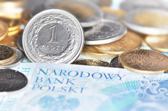 Polish currency (PLN) Stock Photo