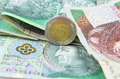 Polish currency (PLN) Stock Photography