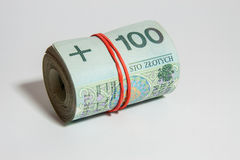 Polish currency - PLN - Polish zloty Royalty Free Stock Photography