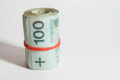 Polish currency - PLN - Polish zloty Royalty Free Stock Photography