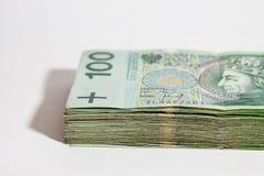 Polish currency - PLN - Polish zloty Royalty Free Stock Photo