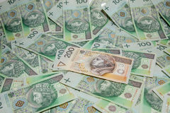 Polish currency Stock Images