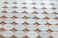 Polish currency 1 zloty coins. Royalty Free Stock Photos