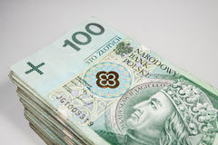 Polish currency 100 zloty Stock Photos