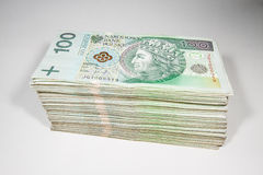 Polish currency 100 zloty Stock Photo