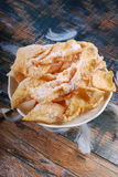Polish deep fried pastry faworki Royalty Free Stock Images
