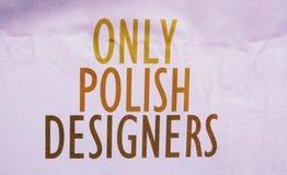 Only Polish Designers Royalty Free Stock Image