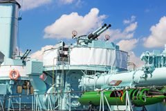 Polish destroyer ship at the Baltic Sea in Gdynia Royalty Free Stock Photo