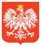 Polish eagle emblem. Stock Images