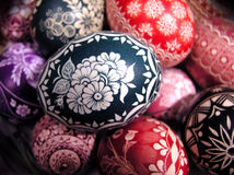 Polish easter eggs. Traditionally home-made Royalty Free Stock Photo