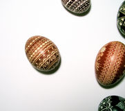 Polish easter eggs. Good for a postcard Royalty Free Stock Image
