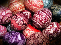Polish Easter eggs. Bunch of eggs again, how sweet stock images