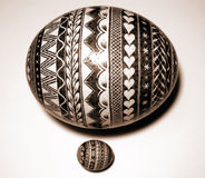Polish Easter ostrich egg. Another one, impossibly huge Royalty Free Stock Images
