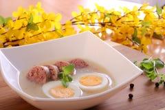 Polish easter's soup, zurek stock photography