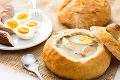 Polish Easter soup. royalty free stock photos