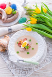 Polish Easter soup with egg Stock Photography