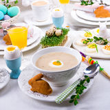 Polish Easter Soup Stock Images
