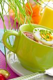 Polish Easter sour dough soup Royalty Free Stock Photography