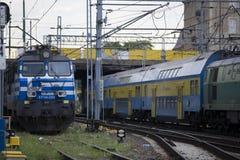 Polish electric locomotive EP09 Royalty Free Stock Image
