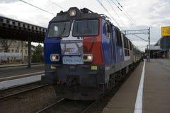 Polish electric locomotive  EP09 Stock Photo