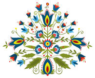 Polish embroidery design - inspiration. Polish folk - traditional design with floral royalty free illustration