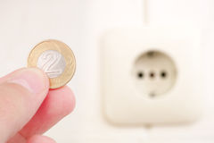 Polish energy costs Royalty Free Stock Image