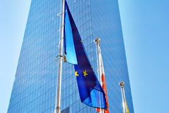 Polish and European union flags Royalty Free Stock Photography