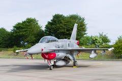 Polish F16 fighter jet Royalty Free Stock Image
