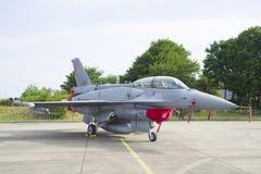 Polish F16 fighter jet Stock Photography
