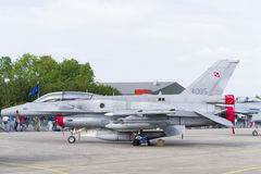 Polish F16 fighter jet Royalty Free Stock Photos