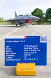 Polish F16 fighter jet Stock Image