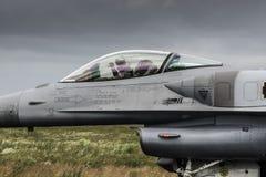 Polish F-16 pilot stock photography