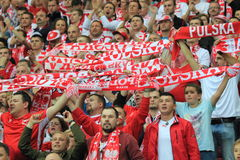 Polish fans Royalty Free Stock Photo