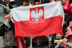 Polish fans Stock Images