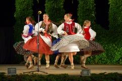 Polish female folk dance Royalty Free Stock Image