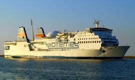 Polish ferry in Swinoujscie. Royalty Free Stock Images