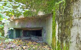 Polish field fortifications from the Second World War. stock images