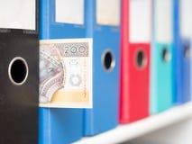 Polish filing costs Stock Photo