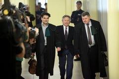 Polish film director Roman Polanski in court in Cracow Stock Photo