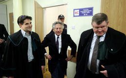 Polish film director Roman Polanski in court in Cracow Stock Images
