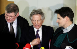 Polish film director Roman Polanski in court in Cracow Stock Image