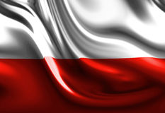 Polish flag Stock Photography