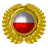 Polish flag vector illustration