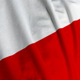 Polish Flag Closeup. Close up of the Polish flag, square image stock photo