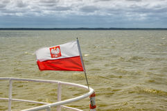 A polish flag Royalty Free Stock Images