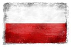 Polish flag with the inscription 8 Stock Photos