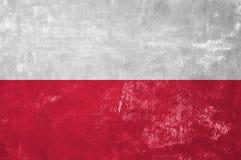 Polish Flag. Poland - Polish Flag on Old Grunge Texture Background royalty free stock photography