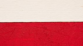 Rustic wooden Polish flag. Polish flag on rustic wood using as background with space for text or image royalty free stock photo