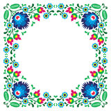 Polish floral folk embroidery frame pattern royalty free illustration