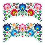 Polish Floral Folk Embroidery Patterns For Card Royalty Free Stock Photo